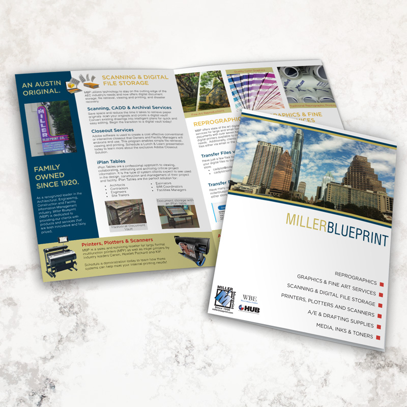 Miller Blueprint Brochure Design